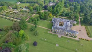 Aerial photograph Polesden Lacey, National Trust, Great Bookham, Surrey, UK